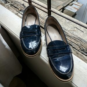 ✨👞 Zara Basic Collection blue shine loafers 👞✨